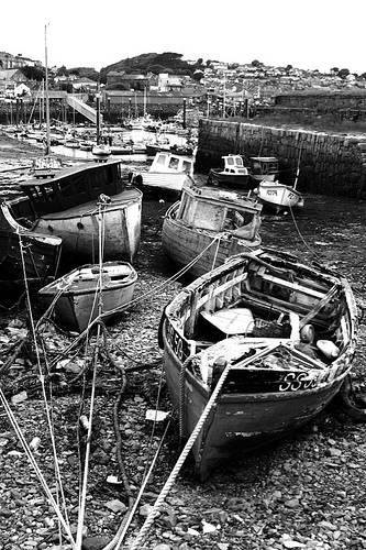 decayed fishing boats
